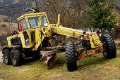 stock photo of bulldozers  - Abandonned bulldozer on a site - JPG