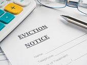 stock photo of eviction  - eviction notice - JPG