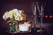 picture of vase flowers  - Bouquet of flowers in a vase - JPG