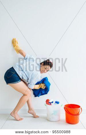 Cheerful Housemaid