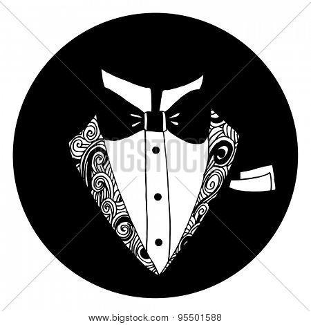An image of a tuxedo icon.