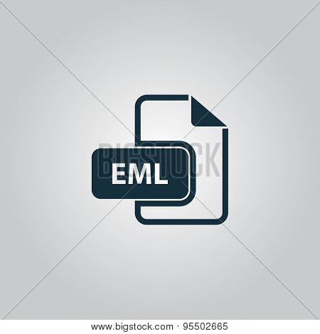 Eml file format icon vector.