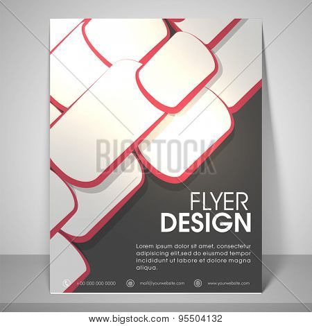 Abstract design for business flyers with address bar, place holder and mailer.