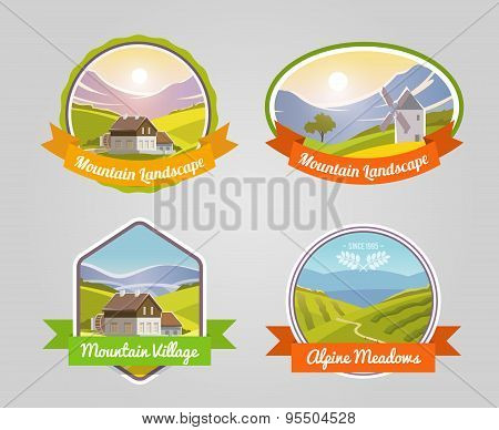 Mountain Landscape Label