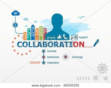 Collaboration Concept And Business Man.