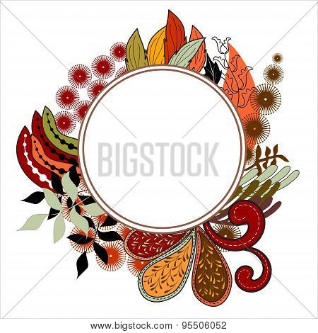 Hand-drawn  Doodle Frame. Abstract Background. Vector Illustration.