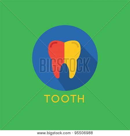 Tooth Icon Vector Icon. Health, Medical or Doctor and Dentist symbols. Stocks design element.