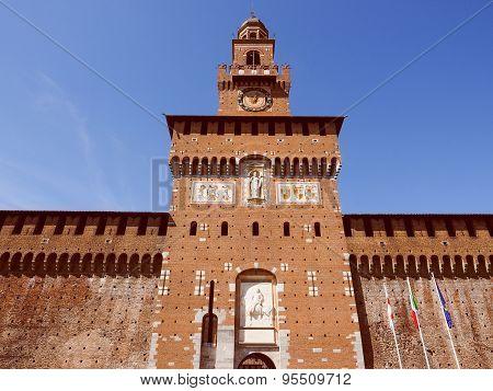 Retro Look Castello Sforzesco Milan