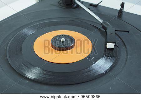 Vinyl Record On Turntable