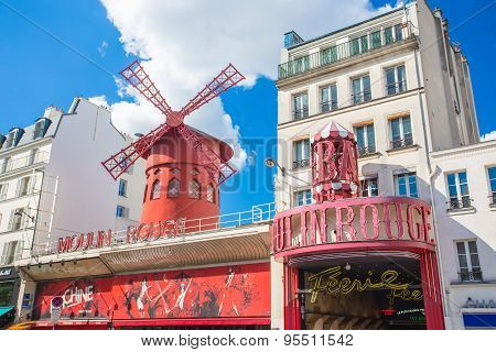 Moulin Rouge In Paris, France