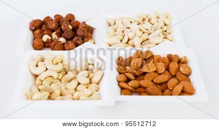 Nuts Mix In Square Paper Plates