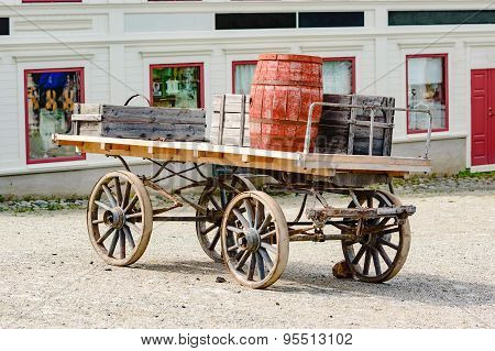 Wagon With Barrels