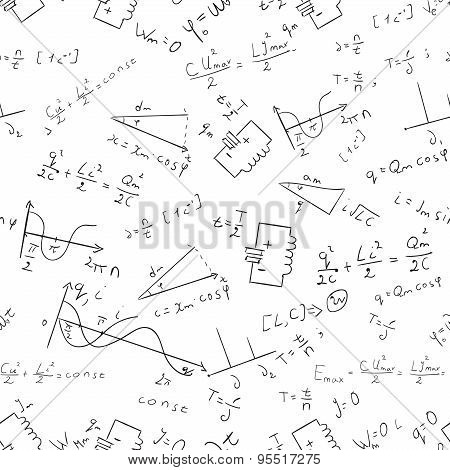 Maths seamless pattern Vector 1
