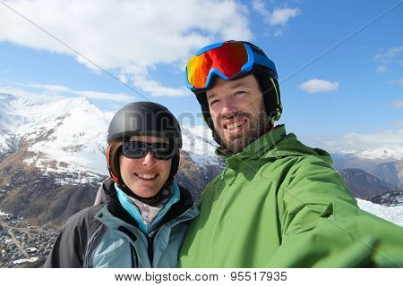 Skiing Selfie