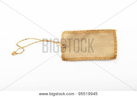 Blank Canvas Label Tag Isolated On White