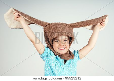 Little Girl With Rabbit Costume