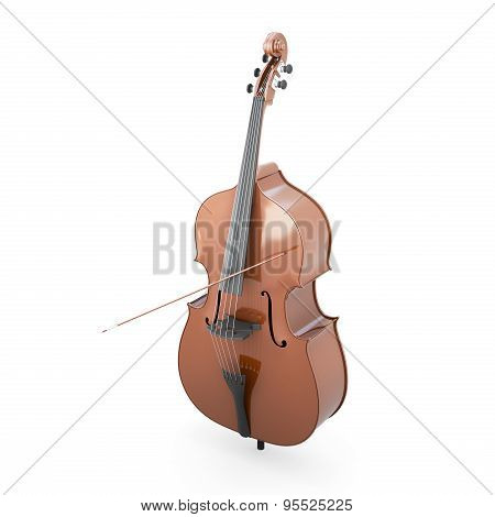 Contrabass On A White