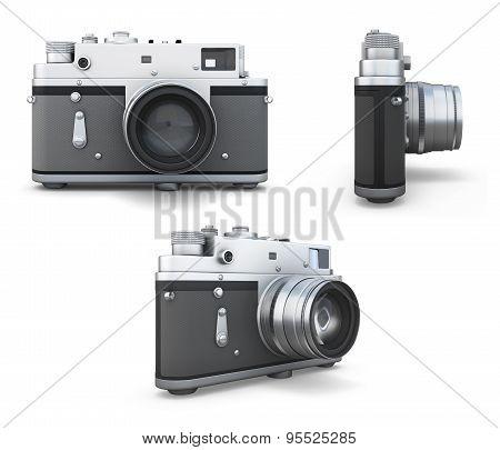 Set Of Old Photo Camera