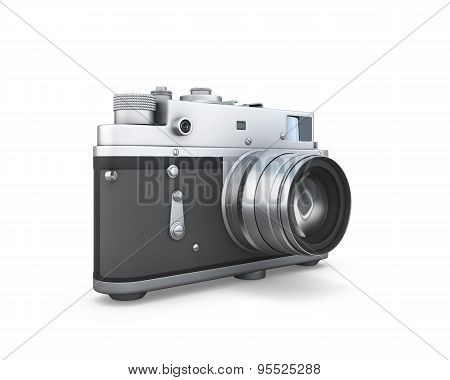 Old Photo Camera Isolated
