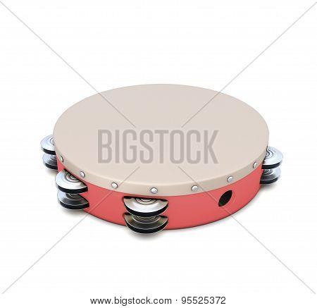 Red Plastic Tambourine