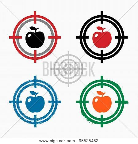 Apple Icon On Target Icons Background