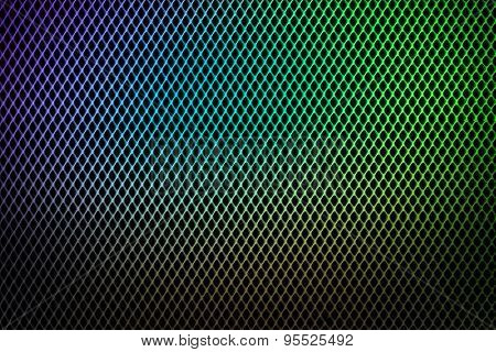Colorful Grate Metallic Background