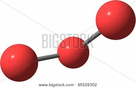 Ozone or trioxygen, is an inorganic molecule with the chemical formula O3. It is a pale blue gas with a distinctively pungent smell