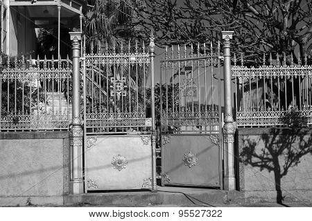Black And White Gate