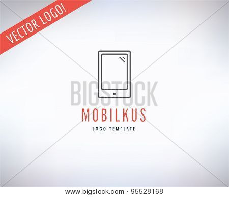 Mobile Vector Logo. Online, Money or Commerce and Technology symbol. Stocks Design Element.