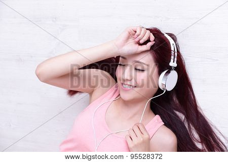 Woman Enjoying The Music