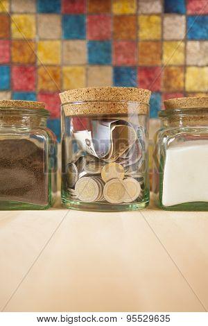 Money Between Sugar And Coffee