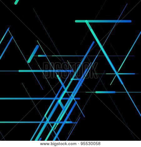Abstract isometric computer generated 3D blueprint visualization lines background. Vector illustrati