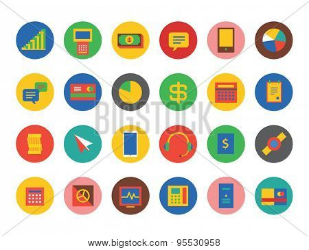 E-commerce Icons Vector Set. Shop, money or commerce and mobile symbols. Stocks design elements.