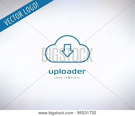 Cloud Icon Vector Logo. Store, App or Developers and Technology symbol. Stock design element.