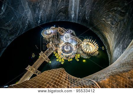 Salt Mine in Turda, Romania