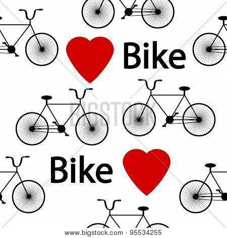 Bike Symbol Seamless Pattern.