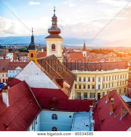 Sibiu cityscape view