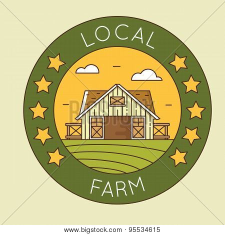 Local Farm - Granary Emblem Logotype Pack. Organic Farming
