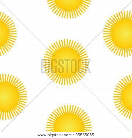 Sun Symbol Seamless Pattern.