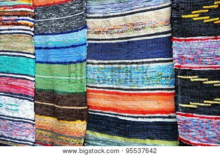 Multicolored Handmade Rugs.