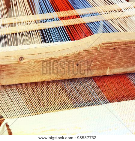 Traditional Weaving Loom Detail