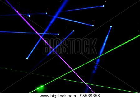 Stage Lights And Laser Show