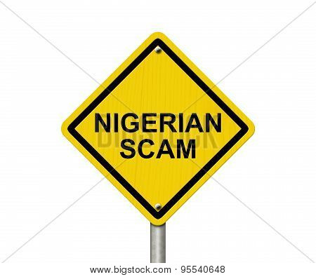 Nigerian Scam Warning Sign