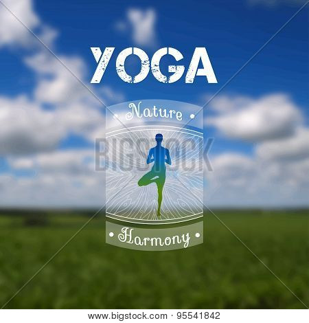 Name of yoga studio on a nature background.