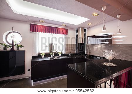 Modern Kitchen In Luxury House