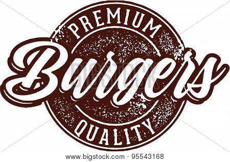 Premium Burgers Menu Stamp