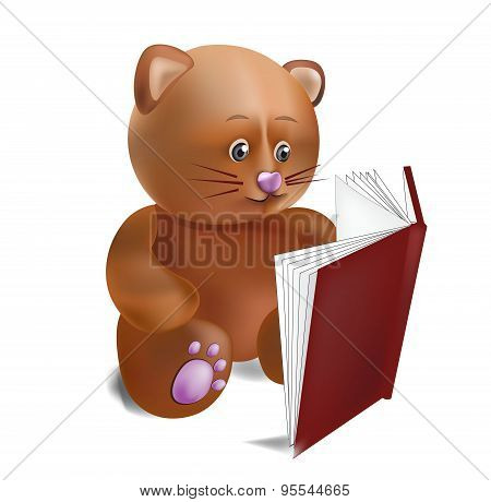 Cat With The Book