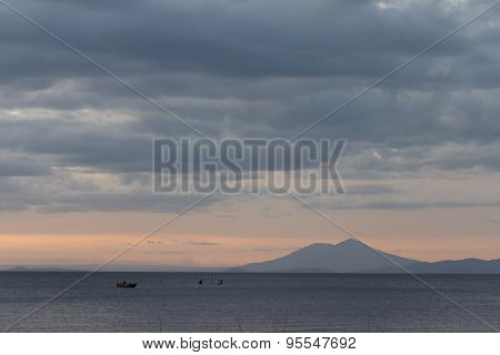 Nicaragua Lake View At Sunshine From Ometepe Island