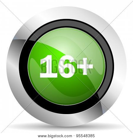 adults icon, green button