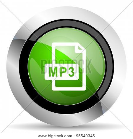 mp3 file icon, green button